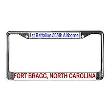 1st Bn 505th ABN License Plate Frame