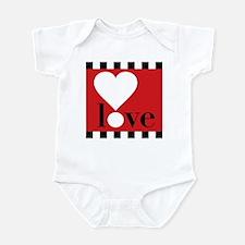 Love! on Red Infant Bodysuit