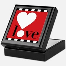 Love! on Red Keepsake Box