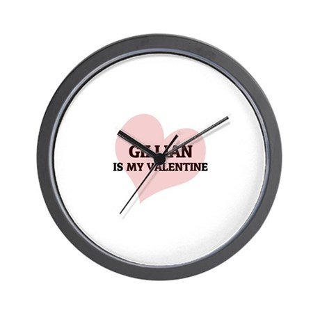 Gillian Is My Valentine Wall Clock
