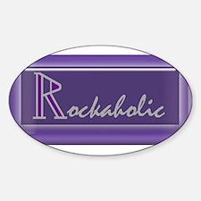 Cute Purple row Sticker (Oval)