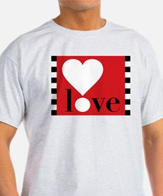 Love! on Red T-Shirt