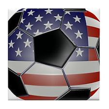 BIG American Soccer Balls Tile Coaster