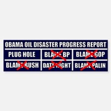 Oil Disaster Bumper Bumper Sticker