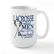 Men Play Lacrosse Mug
