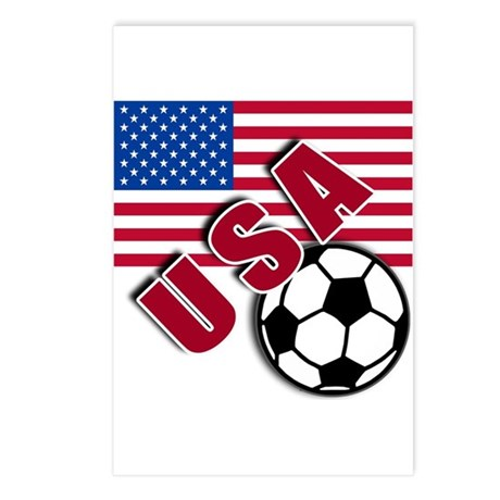 USA Soccer Team Postcards (Package of 8)