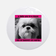 Shih Tzu Heaven Ornament (Round)