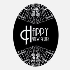 Happy New Year Ornament (Oval)