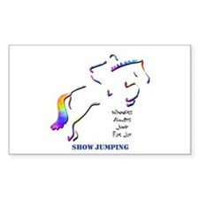 Show Jumping Rectangle Decal