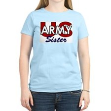 US Army Sister Women's Pink T-Shirt
