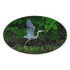 Heron taking flight Decal