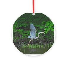 Heron taking flight Ornament (Round)