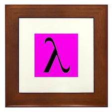 Black Lambda Pink Framed Tile