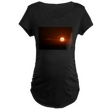 Burning Sun Sunrise Beach T-Shirt