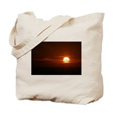 Burning Sun Sunrise Beach Tote Bag