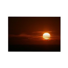 Burning Sun Sunrise Beach Rectangle Magnet