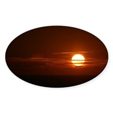Burning Sun Sunrise Beach Decal