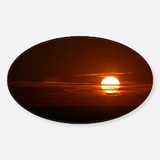 Burning Sun Sunrise Beach Decal