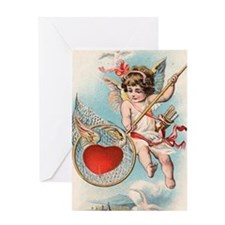 Cupid's Trap Greeting Card