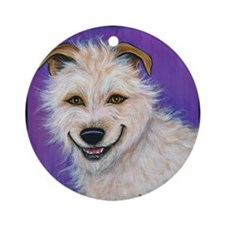 "Terrier Mix ""Charlie"" Ornament (Round)"