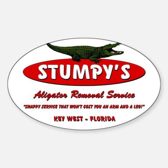 STUMPY'S GATOR REMOVAL SERVIC Sticker (Oval)
