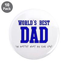"""World's Best DAD 3.5"""" Button (10 pack)"""