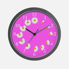 Hot Pink Daisy Clock