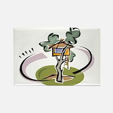 Unique Tree Rectangle Magnet (100 pack)