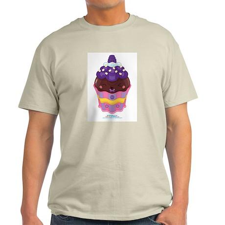 Kawaii Blackberry Cupcake Light T-Shirt
