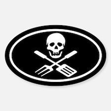 Grill Pirate Sticker (Oval)