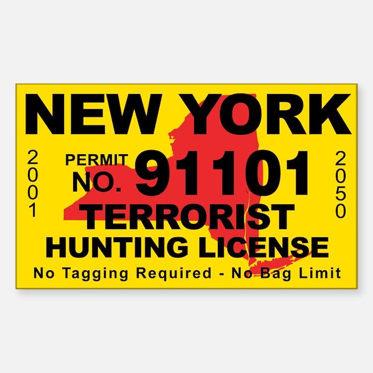 New York Terrorist Hunting License Decal