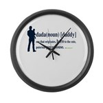 Dada (Daddy) Stay at Home Dad Large Wall Clock