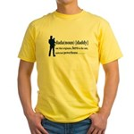Dada (Daddy) Stay at Home Dad Yellow T-Shirt