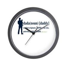 Dada (Daddy) Stay at Home Dad Wall Clock