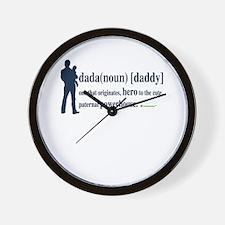 Dada (Daddy) Stay at Home Dad Wall Clock