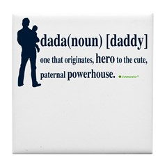 Dada (Daddy) Stay at Home Dad Tile Coaster