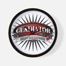 Gladiator Brotherhood Wall Clock