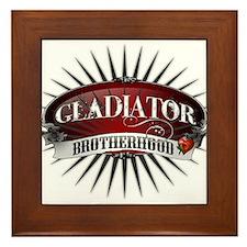 Gladiator Brotherhood Framed Tile