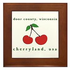 cherryland (cherries) Framed Tile
