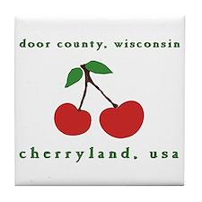 cherryland (cherries) Tile Coaster