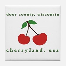 cherryland (cherries) Tile Coaster