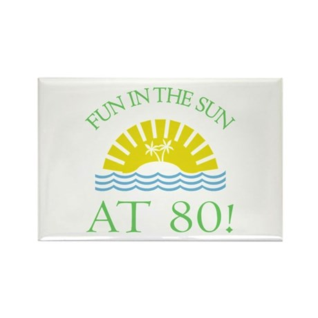 Fun 80th Rectangle Magnet (100 pack)