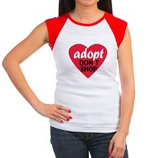 Adopt Don't Shop Women's Cap Sleeve T-Shirt