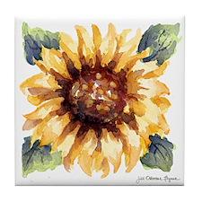 """Sunflower Blossom 4.5"""" Art Tile/Coaster"""