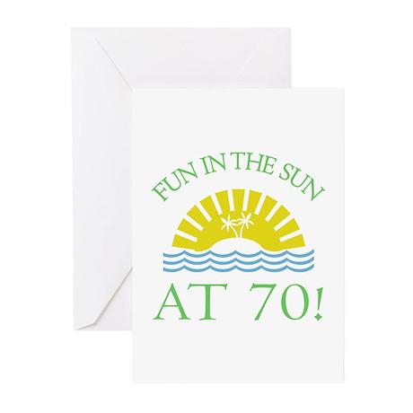 Fun 70th Greeting Cards (Pk of 20)