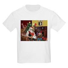 Santa's Poodle Trio Kids T-Shirt