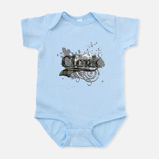 Clark Tartan Grunge Infant Bodysuit