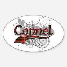 Connel Tartan Grunge Sticker (Oval)