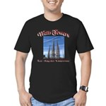 Watts Towers Men's Fitted T-Shirt (dark)