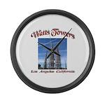 Watts Towers Large Wall Clock